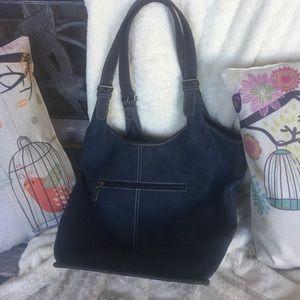 Preston & York Suede Leather Hobo Handbag